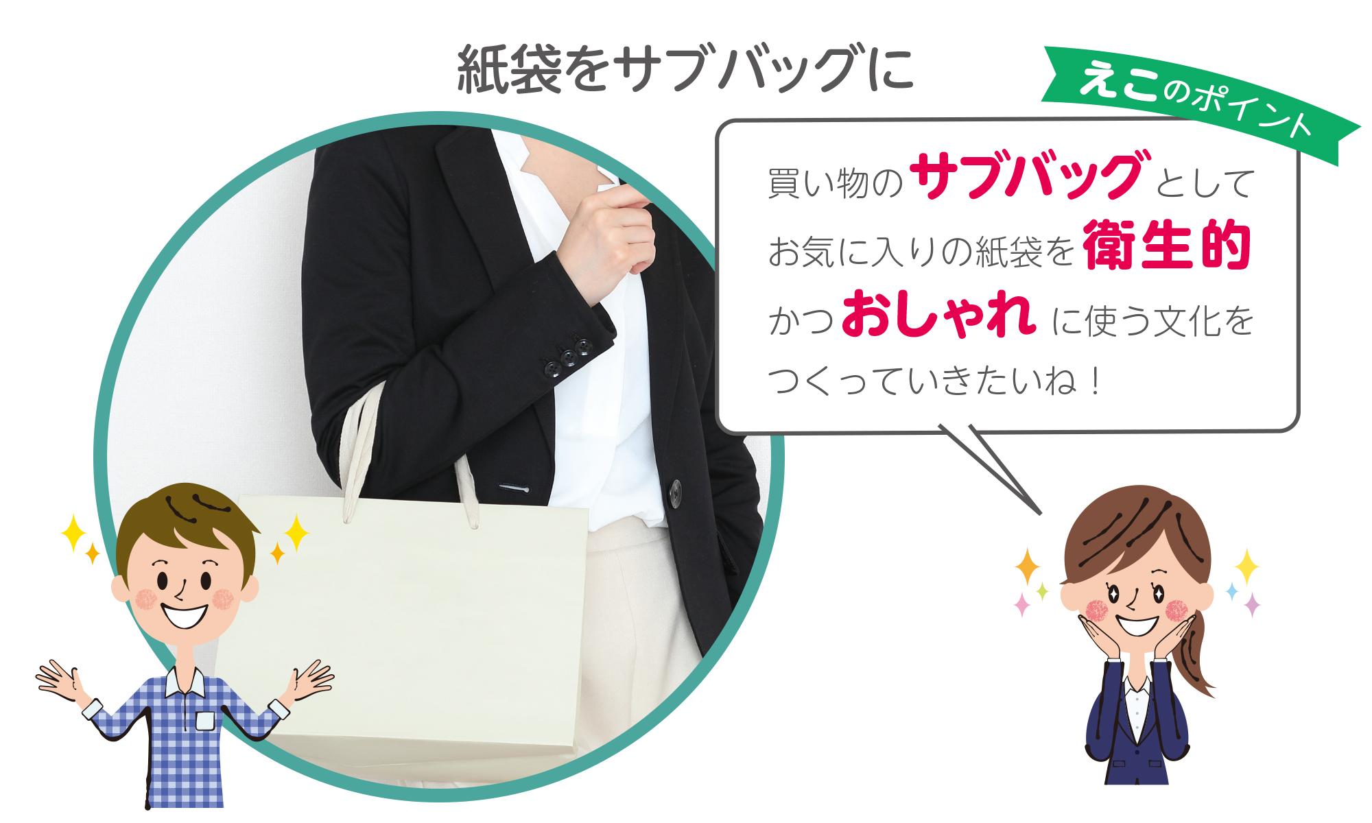 買い物のサブバッグとしての紙袋